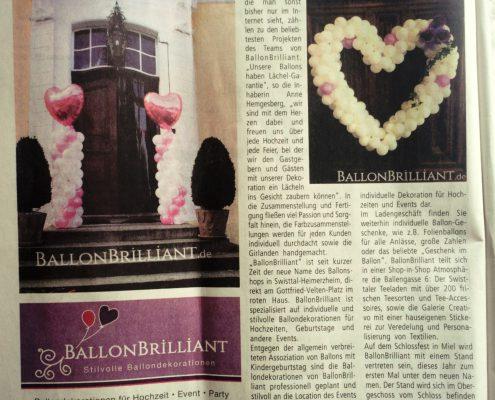 BallonBrilliant Swisttal Zeitungsartikel